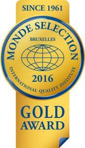 Monde Selection - 金賞 2016