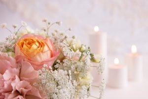 花&キャンドル